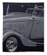 1934 Ford Roadster Fleece Blanket