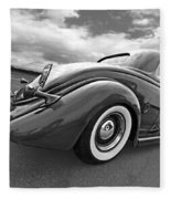 1935 Ford Coupe In Black And White Fleece Blanket