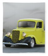 1935 Ford V8 Pickup Fleece Blanket