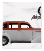 1935 Plymouth With Insignia Fleece Blanket