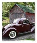 1936 Ford 3-window Fleece Blanket