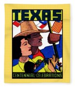 1936 Texas Centennial Poster N.2 Fleece Blanket