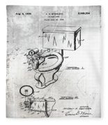 1936 Toilet Bowl Patent Antique Fleece Blanket