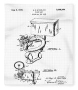1936 Toilet Bowl Patent Fleece Blanket
