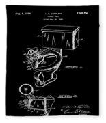 1936 Toilet Bowl Patent Black Fleece Blanket