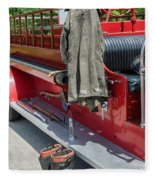1937  Chevy Fire Engine Fleece Blanket