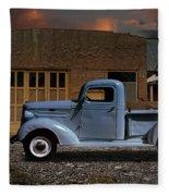 1937 Chevy Pickup Truck Fleece Blanket
