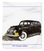 1937 Chrysler Airflow  Fleece Blanket
