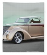 1937 Ford 'high End' Coupe I Fleece Blanket