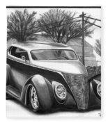 1937 Ford Sedan Fleece Blanket