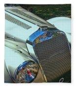 1938 Delage D8 - 120 Aerodynamic Coupe Front Grill Fleece Blanket
