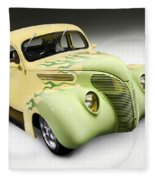1938 Hot Rod Ford Coupe Fleece Blanket