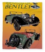 1939 Bentley Drop Head Coupe Fleece Blanket