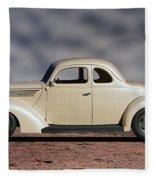 1939 Chevrolet White Coupe Fleece Blanket