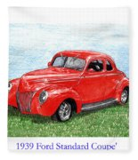 1939 Ford Standard Coupe Fleece Blanket