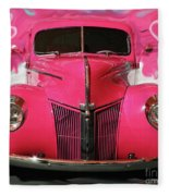 1940 Classic Hot Pink Ford Fleece Blanket