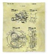 1940 Film Camera Patent Fleece Blanket