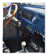 1940 Ford Truck Interior Fleece Blanket