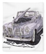 1940 Plymouth P 1 Convertible Fleece Blanket