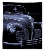 1940 Torpedo Coupe B/w Fleece Blanket
