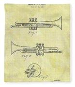 1940 Trumpet Patent Fleece Blanket