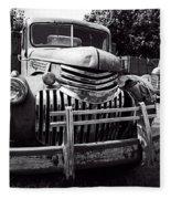 1940's Chevrolet Truck Fleece Blanket