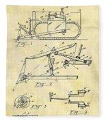 1941 Bulldozer Patent Fleece Blanket