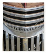 1941 Chevy - Chevrolet Pickup Grille Fleece Blanket
