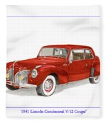 1941 Mk I Lincoln Continental Fleece Blanket