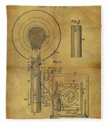 1943 Camera Flash Patent Fleece Blanket