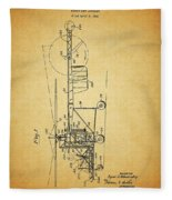 1943 Helicopter Patent Fleece Blanket