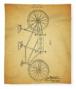 1945 Schwinn Tandem Bicycle Fleece Blanket
