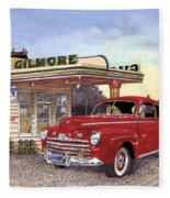 1946 Ford Deluxe Coupe Fleece Blanket