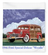 1946 Ford Woody Fleece Blanket