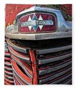 1946 International Harvester Truck Grill Fleece Blanket