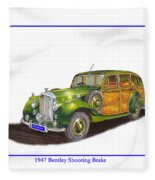 1947 Bentley Shooting Brake Fleece Blanket