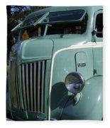 1947 Ford Cab Over Truck Fleece Blanket