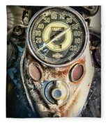 1947 Knucklehead Speedometer Fleece Blanket