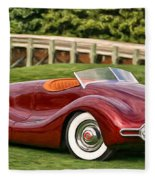1948 Buick Streamliner Fleece Blanket