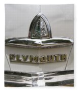 1948 Plymouth Hood Logo Fleece Blanket