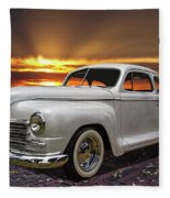 1948 Plymouth Two Door Coupe Fleece Blanket