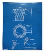 1951 Basketball Net Patent Artwork - Blueprint Fleece Blanket