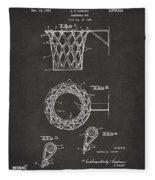 1951 Basketball Net Patent Artwork - Gray Fleece Blanket