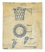 1951 Basketball Net Patent Artwork - Vintage Fleece Blanket