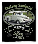 1951 Ford Truck Shields Fleece Blanket