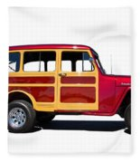 1951 Willy's Jeep Wagon Fleece Blanket