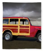 1951 Willy's Jeepster Fleece Blanket