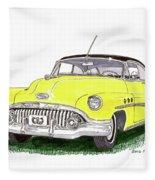 1952 Buick Special Fleece Blanket