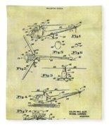 1952 Helicopter Patent Fleece Blanket
