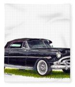 1952 Hudson Hornet Convertible Fleece Blanket